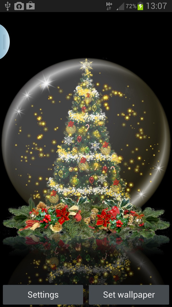 snow globe christmas tree live wallpaper download for free on android market - Live Christmas Wallpaper Android